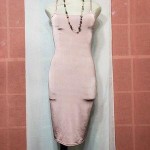 """Women's """"PLT"""" Satin Rose Bodycon Dress NWOT"""